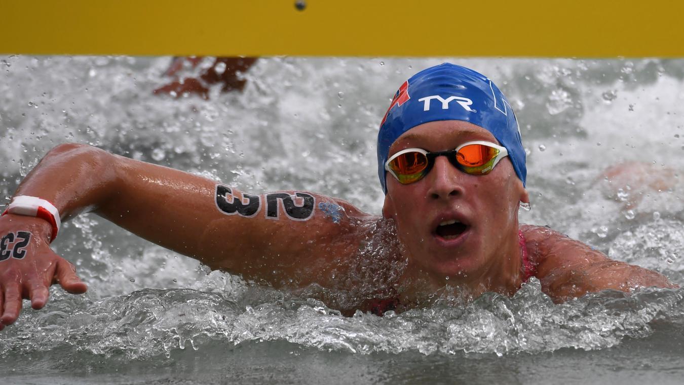 Marc-Antoine Olivier a remporté l'argent sur le 10 km des Championnats d'Europe de natation en eau libre, jeudi. Photo d'illustration