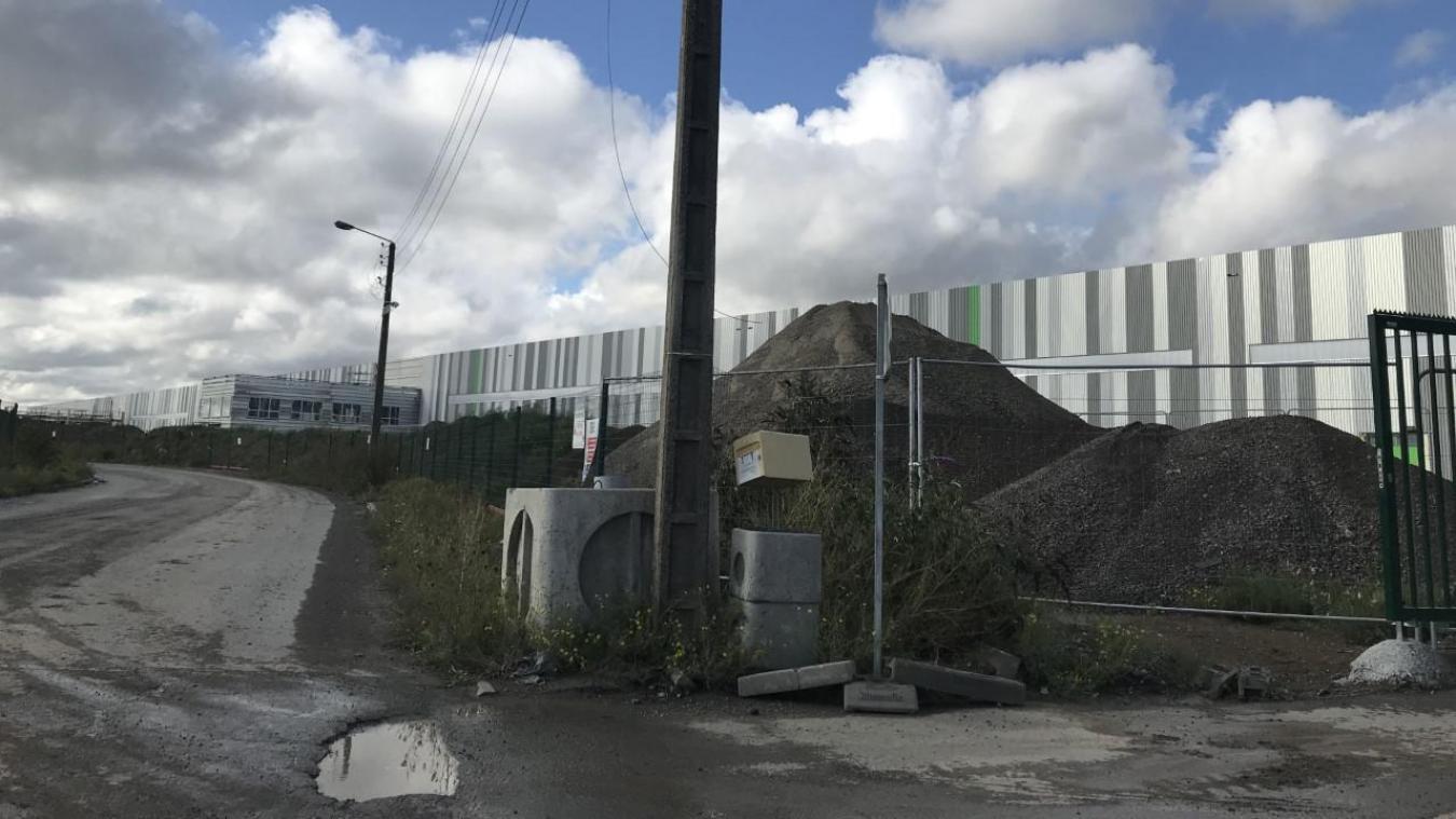 L'entrepôt Goodman alors en construction