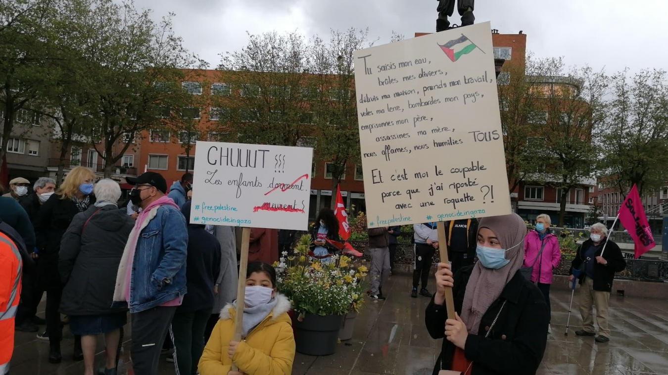 Les manifestants protestent contre Israël, pays à qui ils reprochent «un génocide».