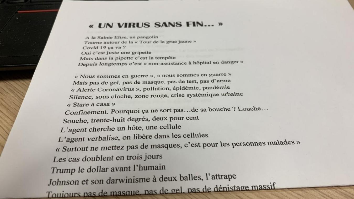 «Un virus sans fin», poème écrit par un lecteur de la Semaine dans le Boulonnais