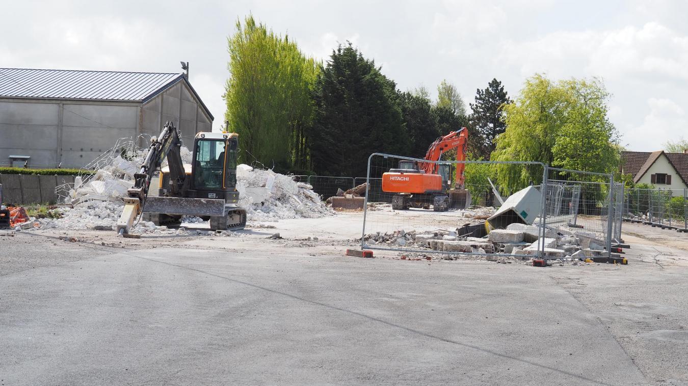 L'ancien garage des Hauts-Champs n'est plus.