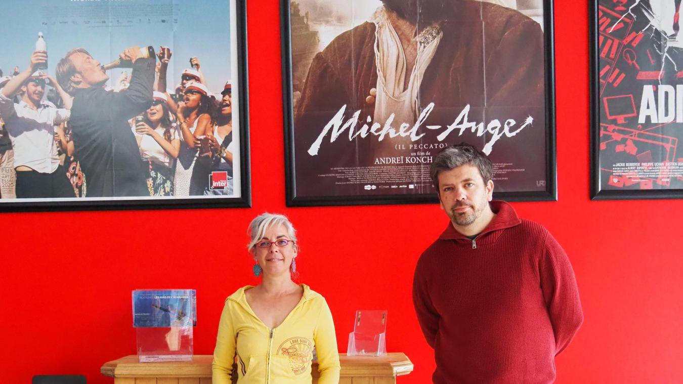 Virginie Pollart et Cédric Vannier, co-gérants de L'Alhambra, sont heureux de pouvoir lever le rideau dans les salles.