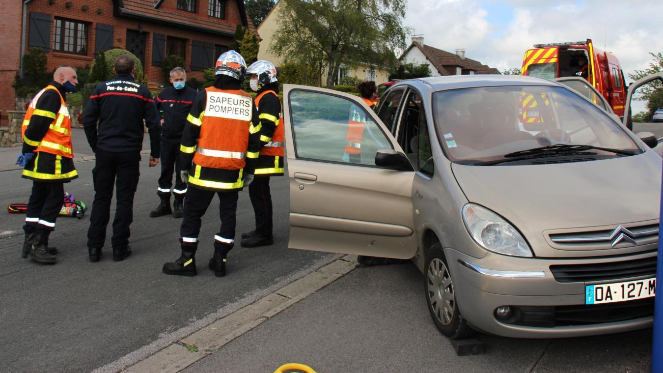 Une simulation d'accident de la route destinée à former 8 jeunes recrues.