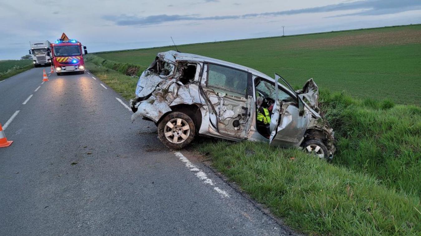 Ce lundi, peu après 21 heures, un accident s'est produit sur la départementale entre Balinghem et Guînes.