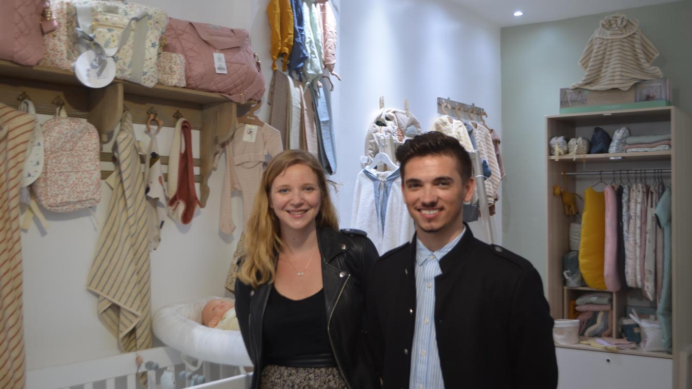 Pauline Budzyk et Anthony au sein de la boutique des  Choupizz  à Arras