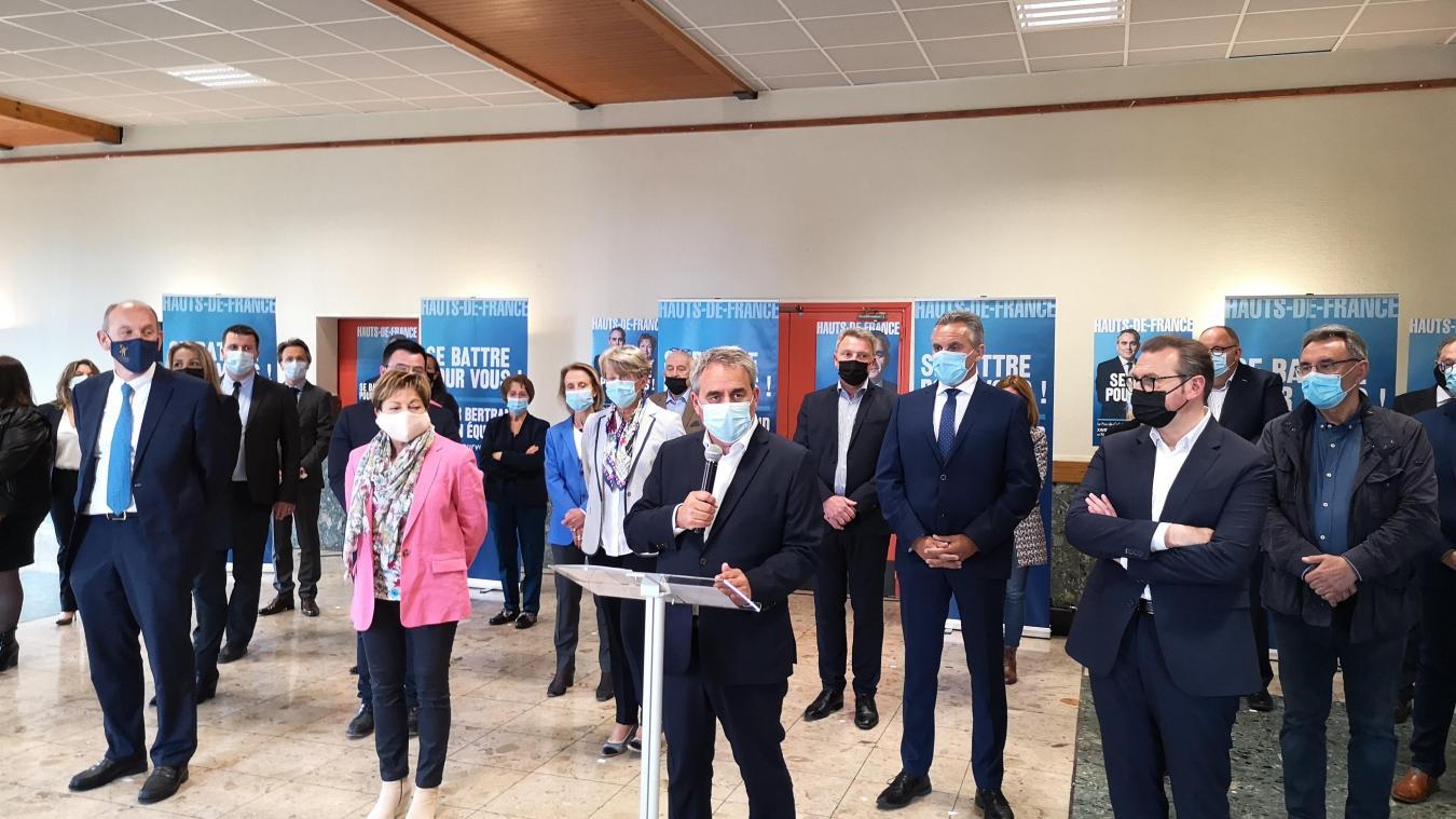 Xavier Bertrand a présenté la liste de la majorité régionale ce mercredi à Arras.