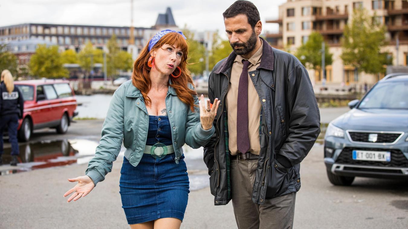 Audrey Fleurot et Medhi Nebbou, les deux acteurs principaux de cette série événement, ont beaucoup aimé leur passage à Dunkerque.  Philippe Leroux / Itinéraire productions / Septembre productions / TF1