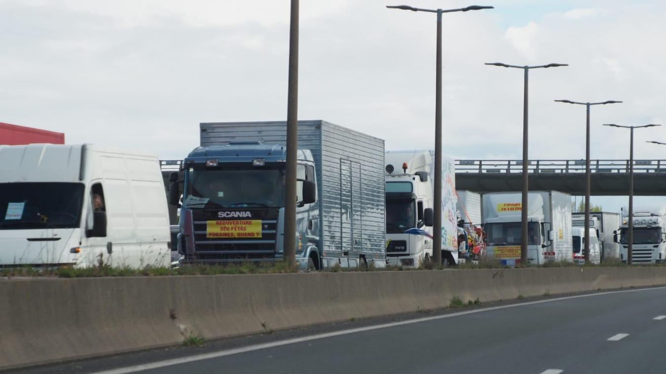 Près du Tunnel sous la Manche, ce mercredi 19 mai, lors des ralentissements.