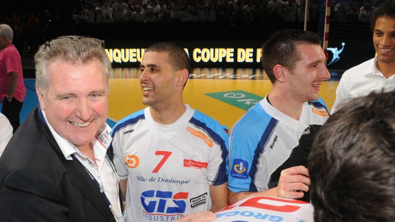 Dunkerque : Jean-Pierre Vandaele (avec l'ailier Jalel Touati à ses côtés) a connu ses premières joies avec l'USDK seulement quelques mois après son arrivée à la tête du club.