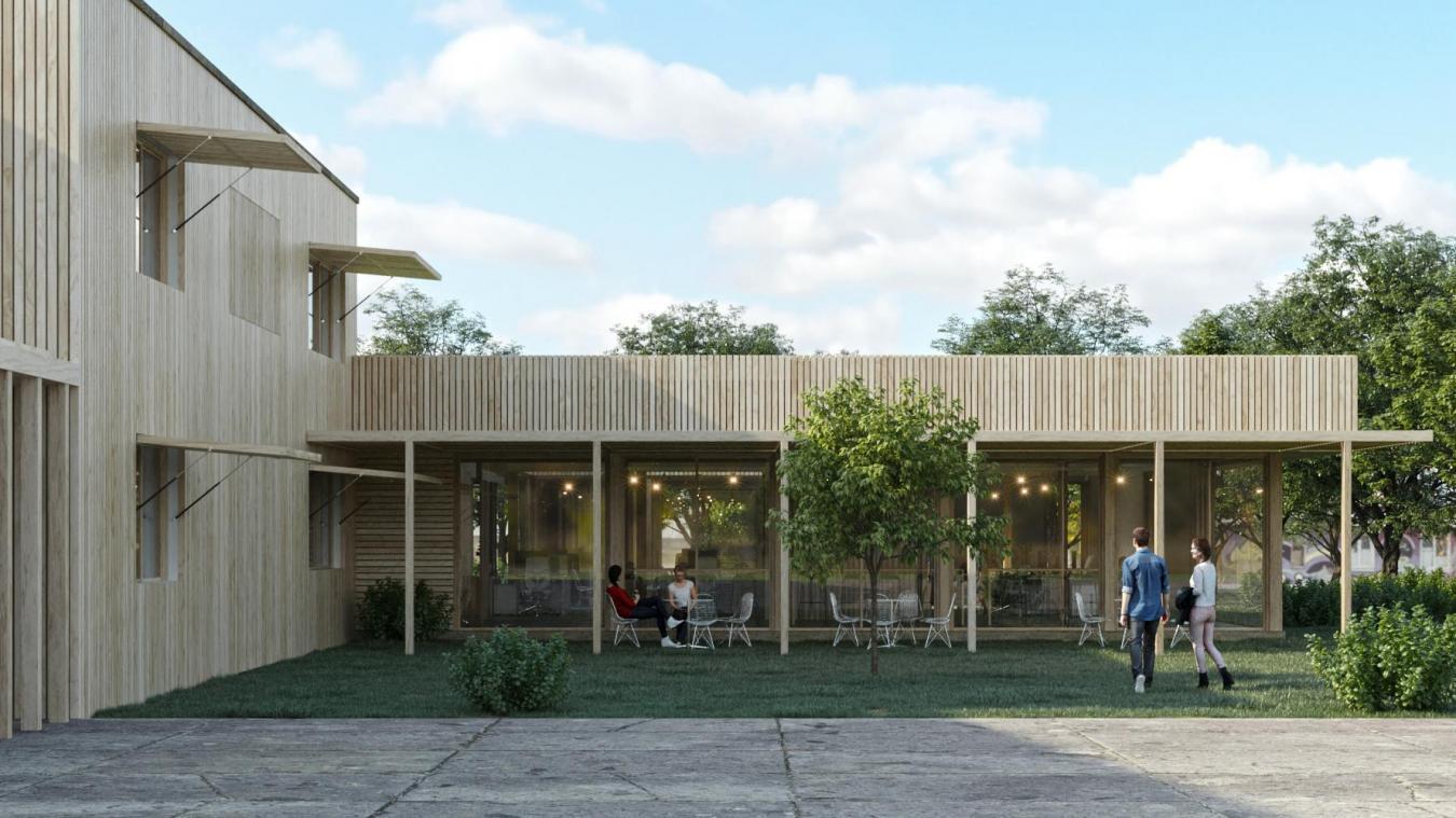 Visuel du futur bâtiment.