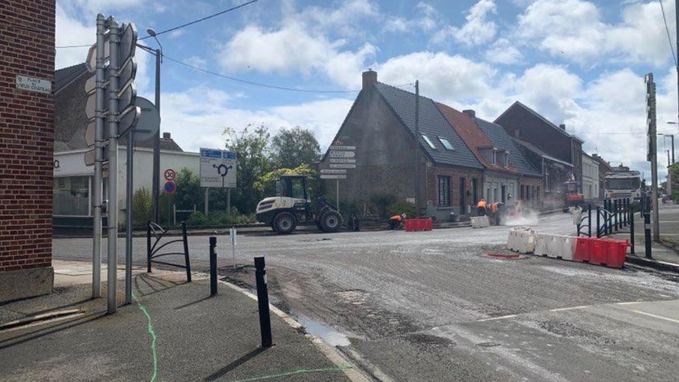 Caestre : des travaux au carrefour des rues d'Hazebrouck, de Strazeele et de la Libération