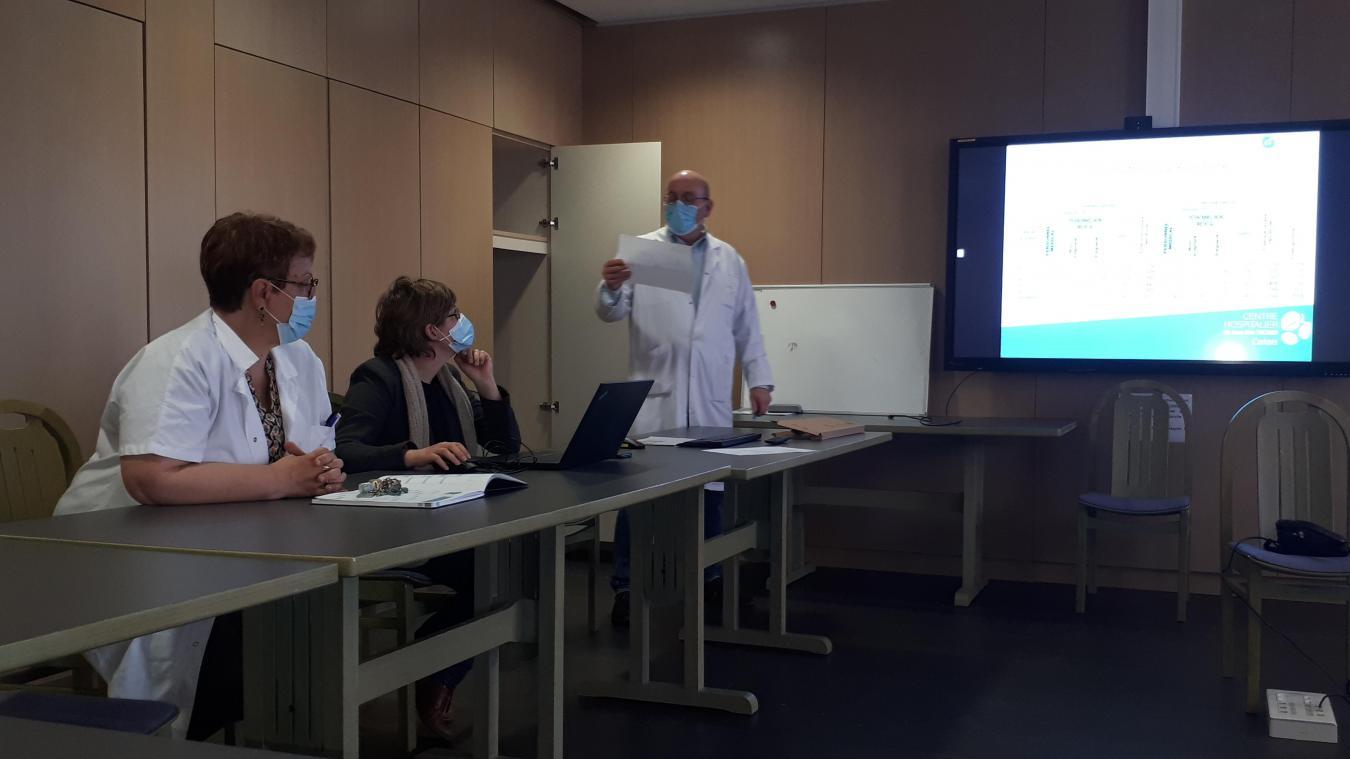 Le Dr Rémy Dumont a commenté les chiffres d'activités Covid des quinze derniers jours à l'hôpital Técher.