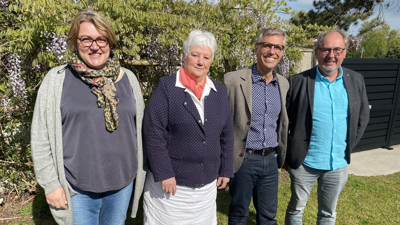 De gauche à droite: Caroline Albertini, Françoise Duvieubourg, Florent Filippi et Dominique Dachicourt.