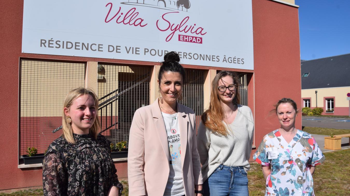 Marion Debrabant, la directrice de la Villa Sylvia, et ses collaboratrices.