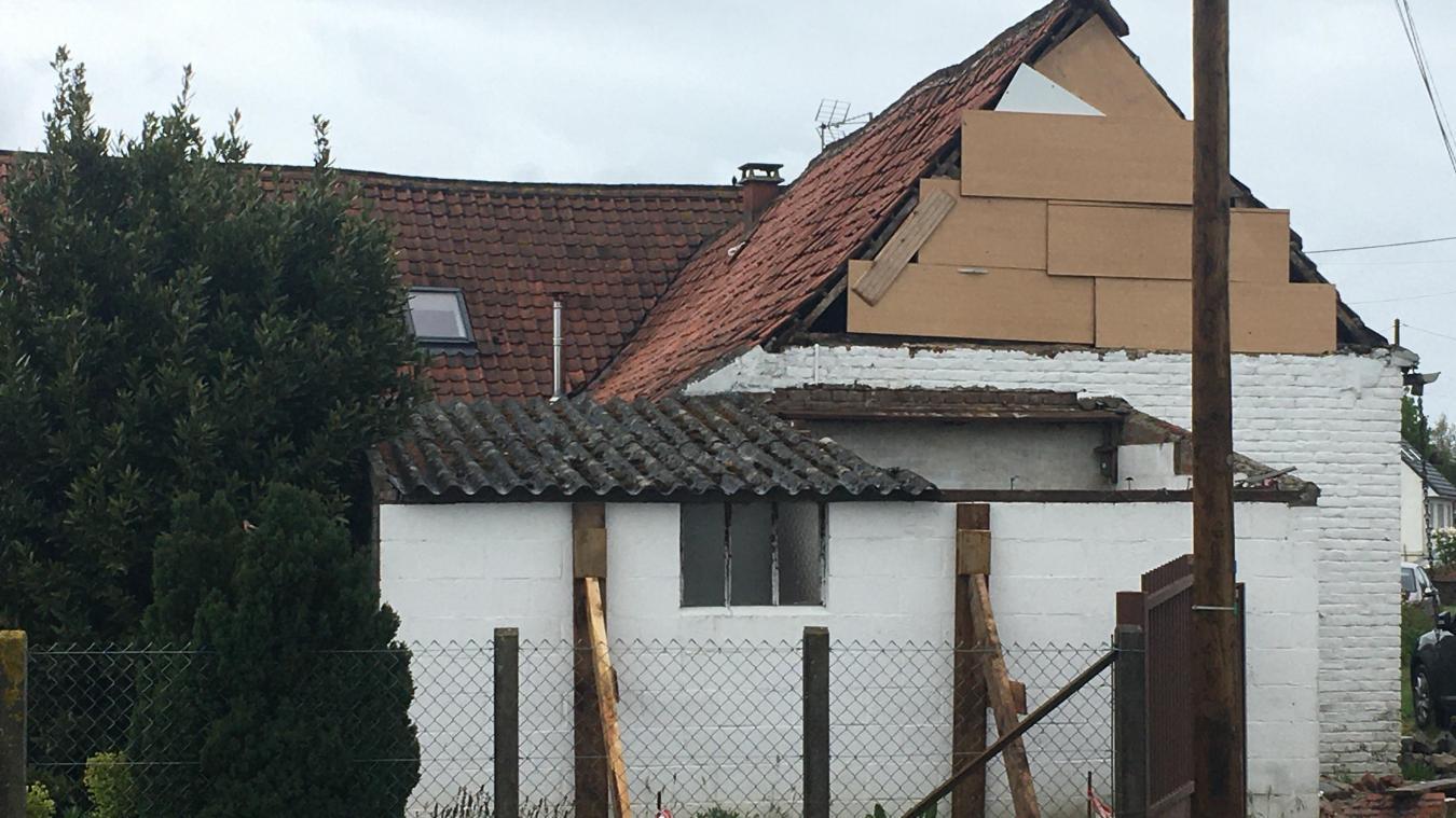 Le vent a chahuté la construction à Saint-Venant.