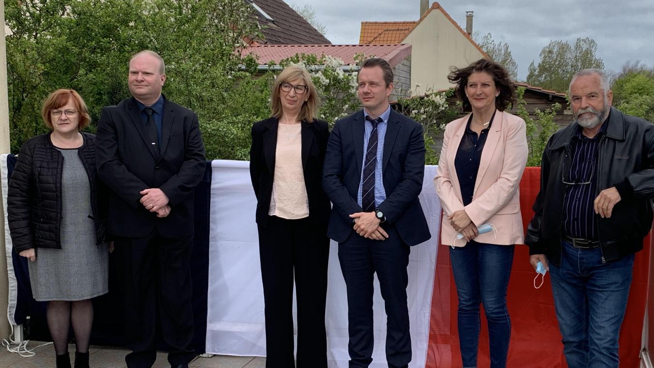 De gauche à droite : Fabienne Guérin et Thomas Pamart (Outreau) ; Annie Ledoux et Antoine Golliot