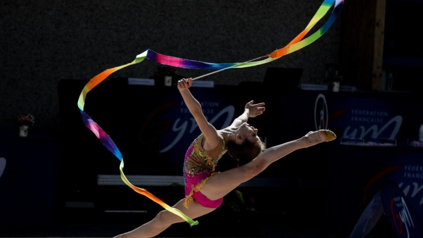 Le ruban faisait partie des engins lors de cette compétition. Manon Cruz