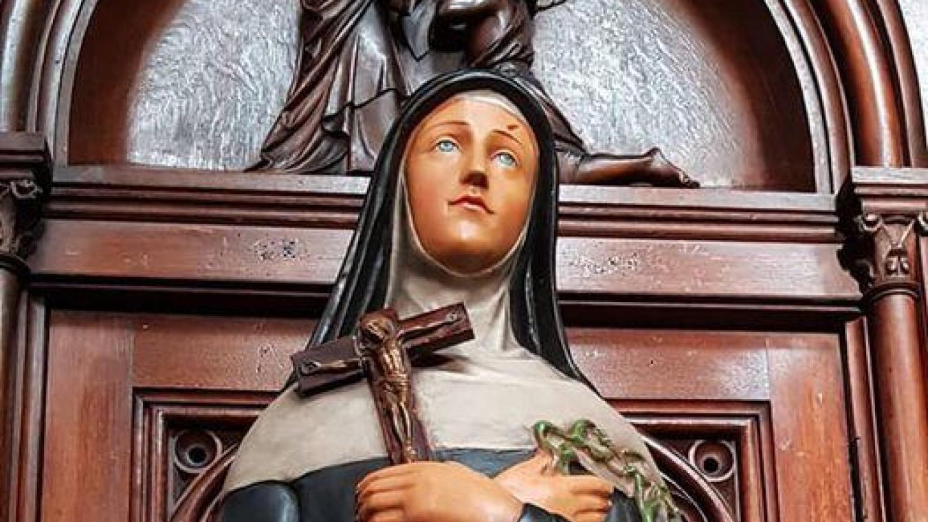 Sainte-Rita, patronne des causes désespérées, est l'objet d'une ferveur particulière à Calais, souligne l'abbé Meyer.