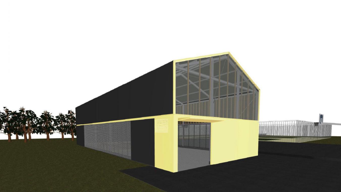 Voici la projection en 3D de la future salle multi-activités de Sailly-sur-la-Lys.