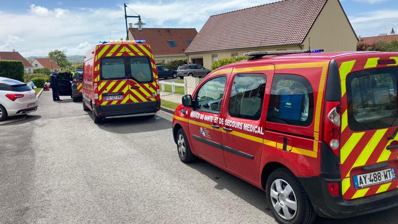 L'accident s'est produit ce lundi après-midi, rue Georges-Brassens à Samer.