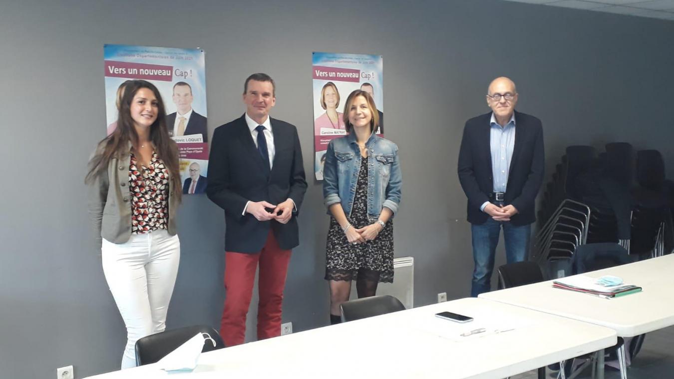 Caroline Matrat (à droite) et Ludovic Loquet (au centre) sont à nouveau candidats, comme en 2015.