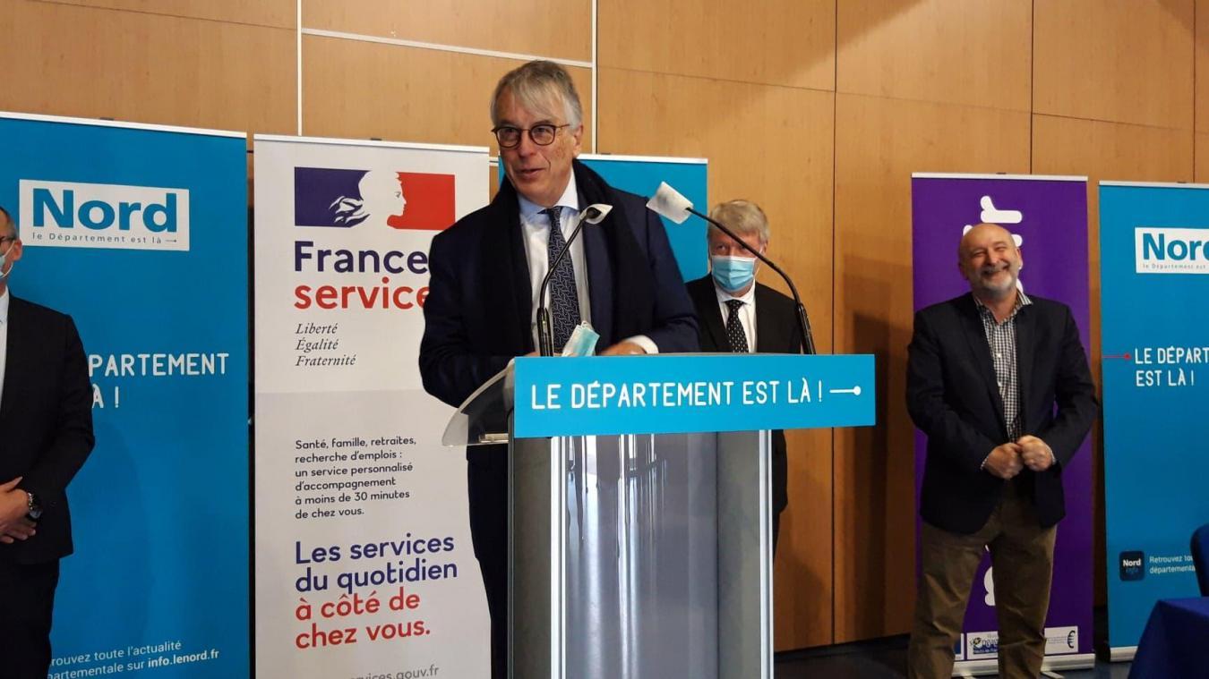 Le président sortant du Département, Jean-René Lecerf veut que le Nord puisse bénéficier d'un maximum de crédits pour accompagner les habitants et entreprises.