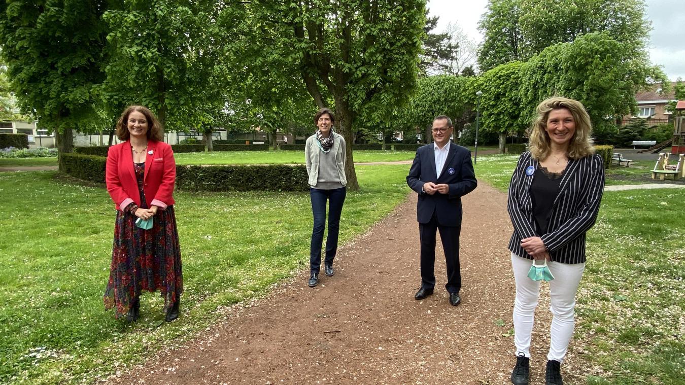 Jennifer De Temmerman, Emilie Ducourant, Hugues Queste et Valérie Pringuez (de gauche à droite) sont animés par la même envie d'emmener la région Hauts-de-France dans une véritable transition écologique.