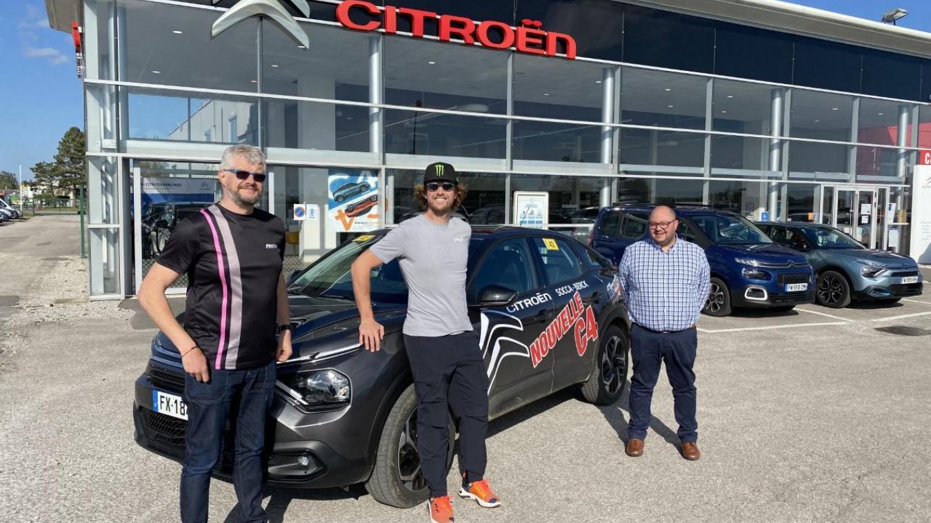 Mardi, Adrien Van Beveren a eu l'occasion de saluer l'équipe de la concession automobile Citroën de Berck-sur-Mer.