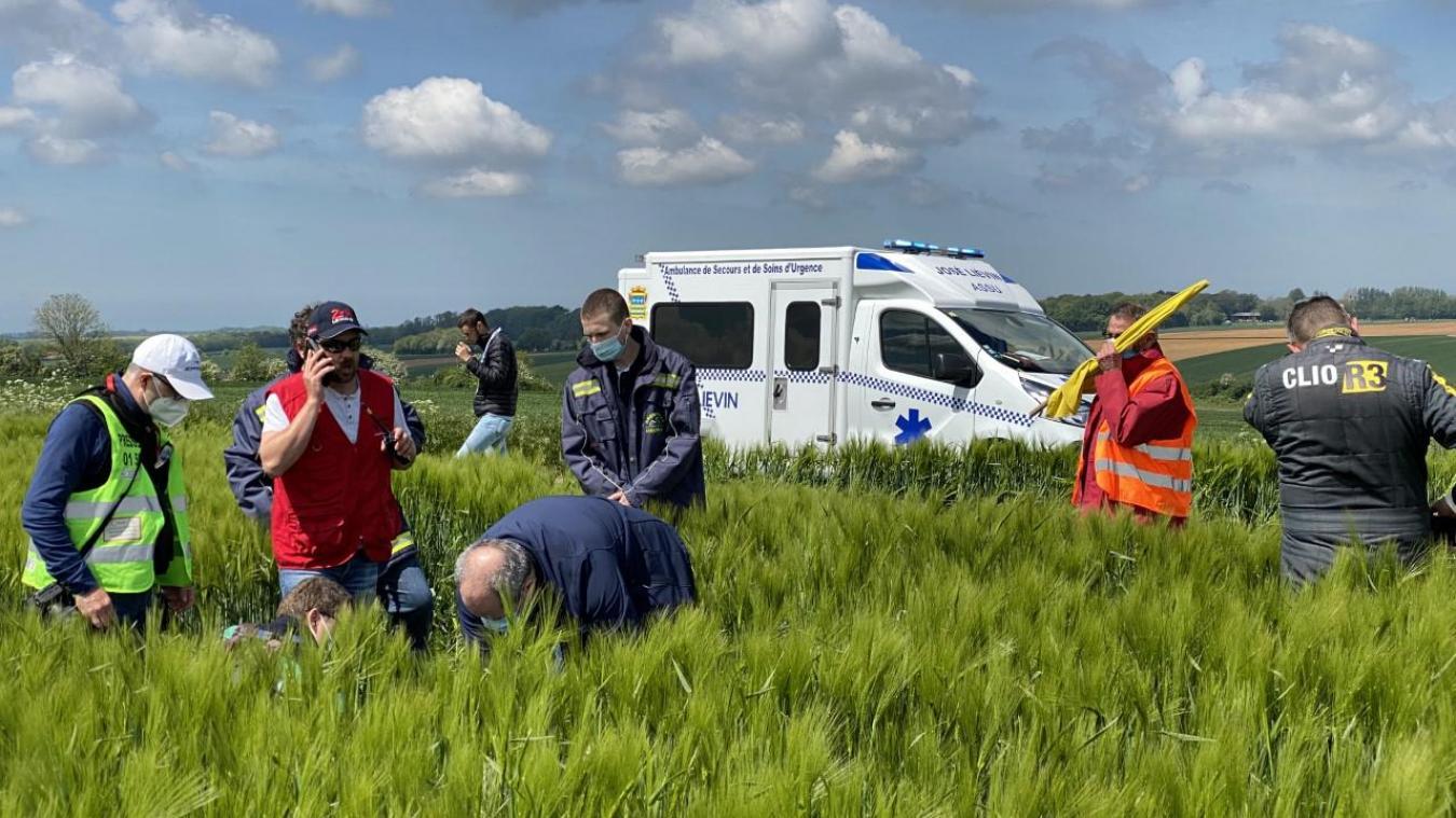L'accident s'est déroulé dans un champ de blé à Clencleu, en fin de matinée.