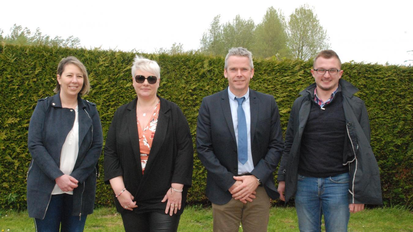 Stéphanie Quiquempoix, Nathalie Marinelli, Nicolas Pichonnier et Pierre-Samuel Baurain.