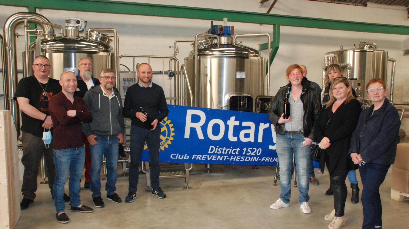 Réunis au sein de la brasserie artisanale « White Star » de Ludovic Dez, les rotariens ont peaufiné leur projet de création d'une nouvelle bière.