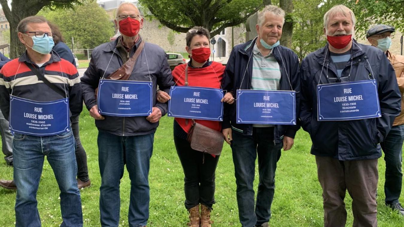 Une bonne trentaine de Boulonnais ont célébré le 150è anniversaire de la Commune de Paris.