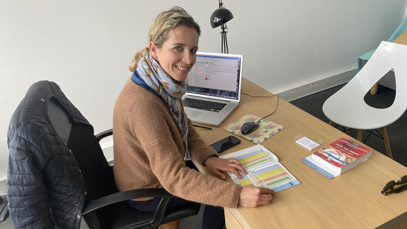 Constance Aymard est installée dans le centre d'affaires du Touquet, depuis juillet 2020.