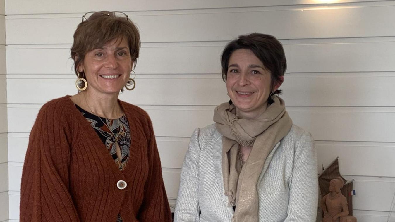 Agathe Sainfel (à droite), directrice appui et Bénédicte Waymel, manager entreprises à la CCI Littoral-Hauts-de-France.
