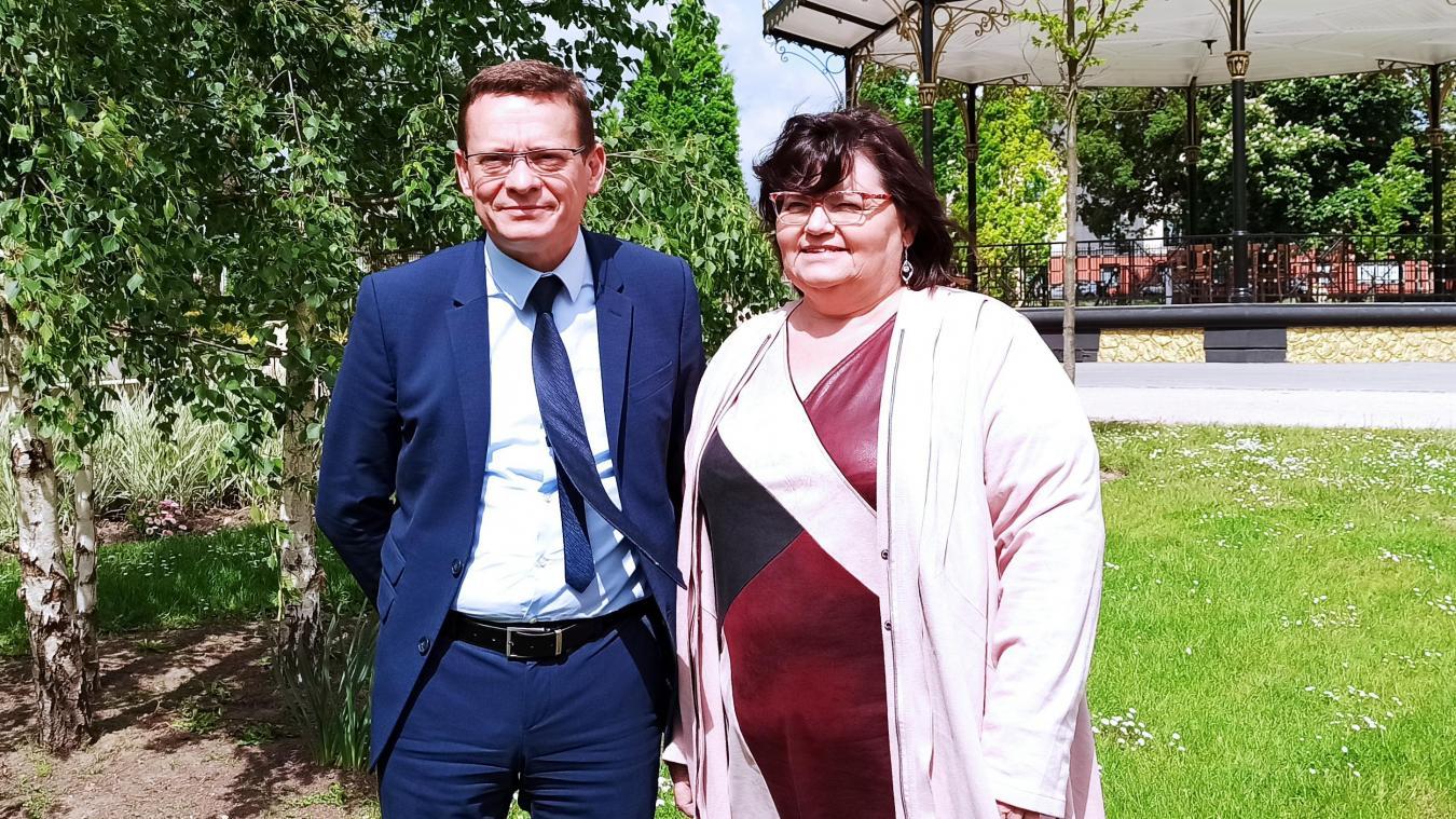 Laurent Duporge aux côtés d'Évelyne Nachel, le binôme candidat de la gauche pour le canton de Liévin.