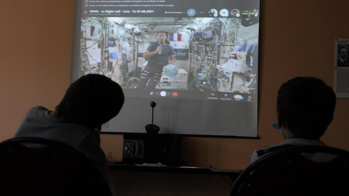 Des collégiens d'Audruicq en direct de l'espace avec Thomas Pesquet
