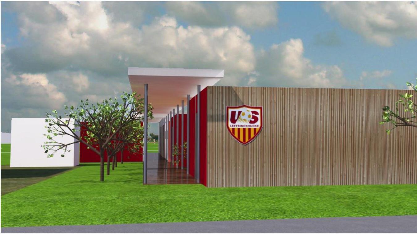 Huit nouveaux vestiaires vont être livrés l'année prochaine au club de foot de Leffrinckoucke. Crédit Atelier d'art et d'architecture Laurent Legrand