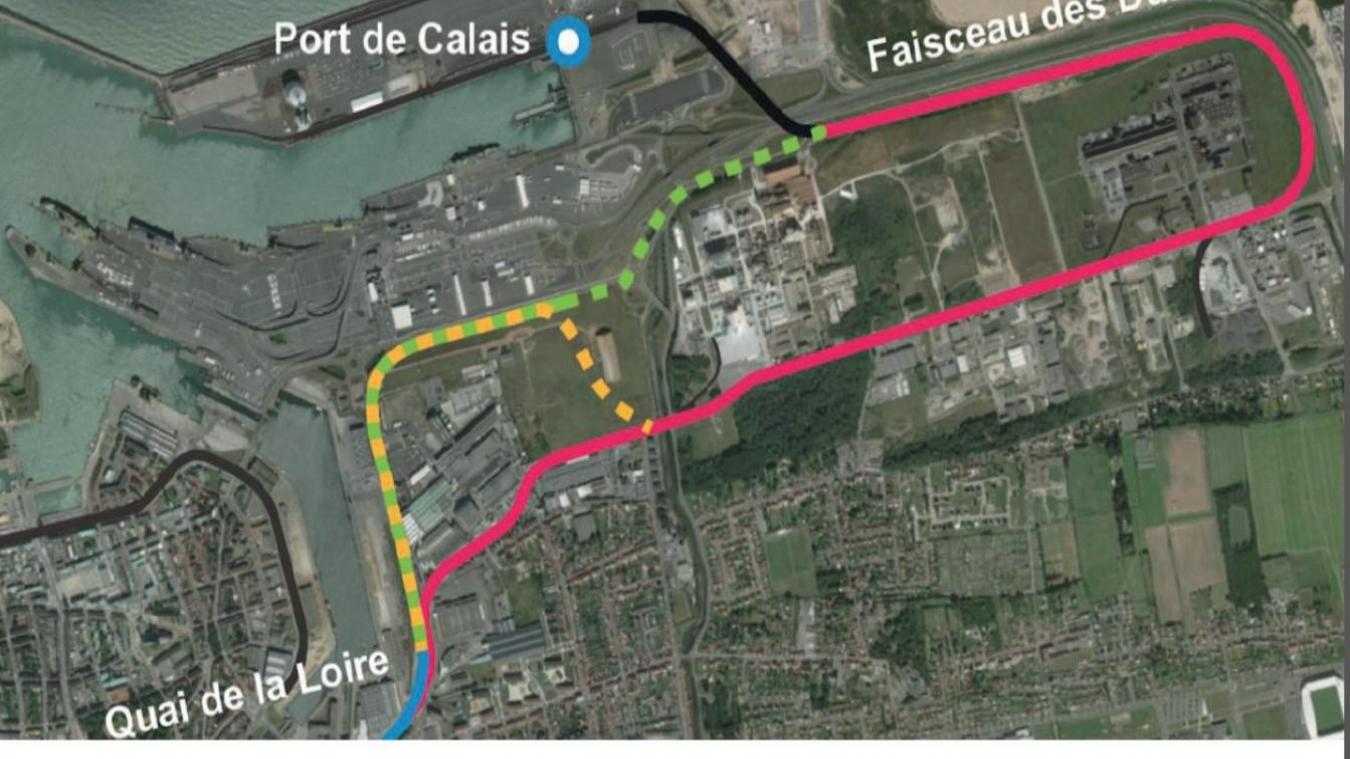 Le terrain désaffecté d'Umicore (tracé orange), que la Région s'est engagée à racheter pour éloigner les trains de la rue Duguay-Trouin, est toujours en négociation.