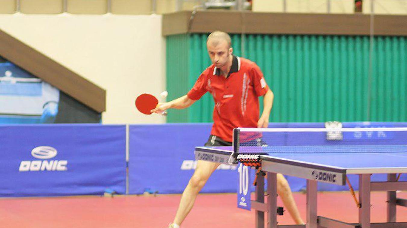 Mathieu Loicq, champion international de tennis de table