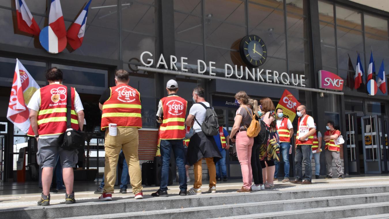 Le 3 juin, la CGT-Cheminots a organisé une journée de déploiement pour communiquer les deux prochains rassemblements à Lille et à Paris.