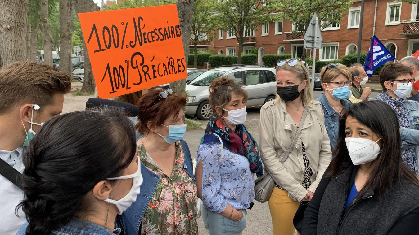 Les AESH de Calais étaient en grève hier suite à un appel à la mobilisation nationale.