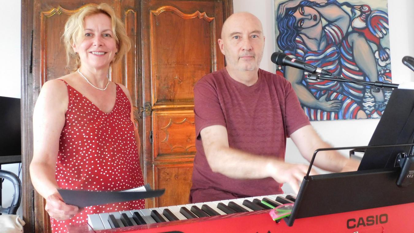Philippe Bourrier, musicien interprète, et Pascale, sa parolière