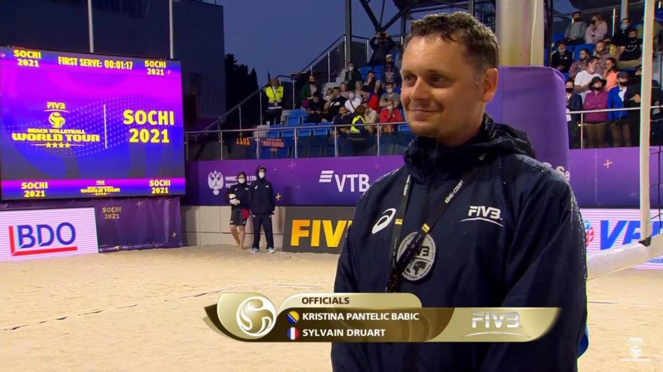 Le Calaisien Sylvain Druart a arbitré au total 24 matchs en moins d'une semaine, dont deux finales pour la médaille de bronze.