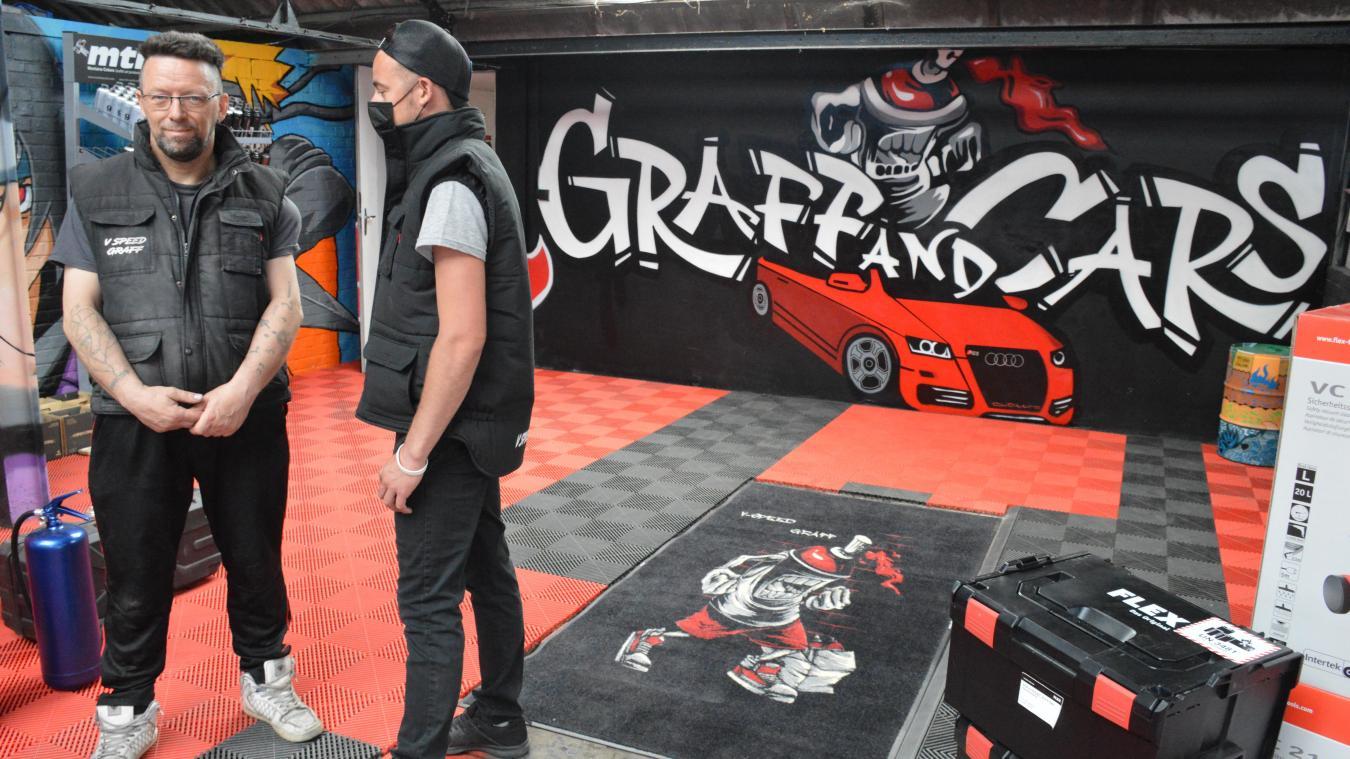 Eric et François Vereecque sont les deux employés (et gérants) du magasin Graff and Cars.