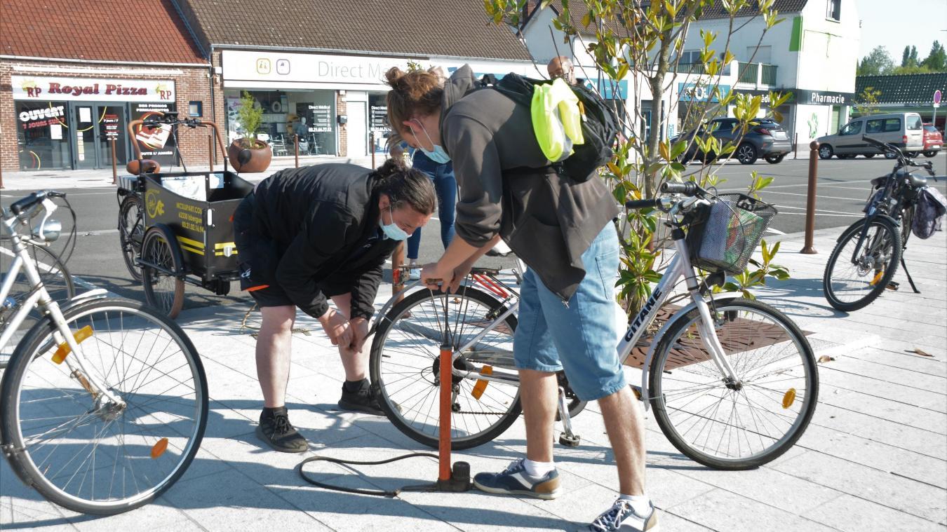 Avant la balade, vous pouviez faire vérifier votre vélo.