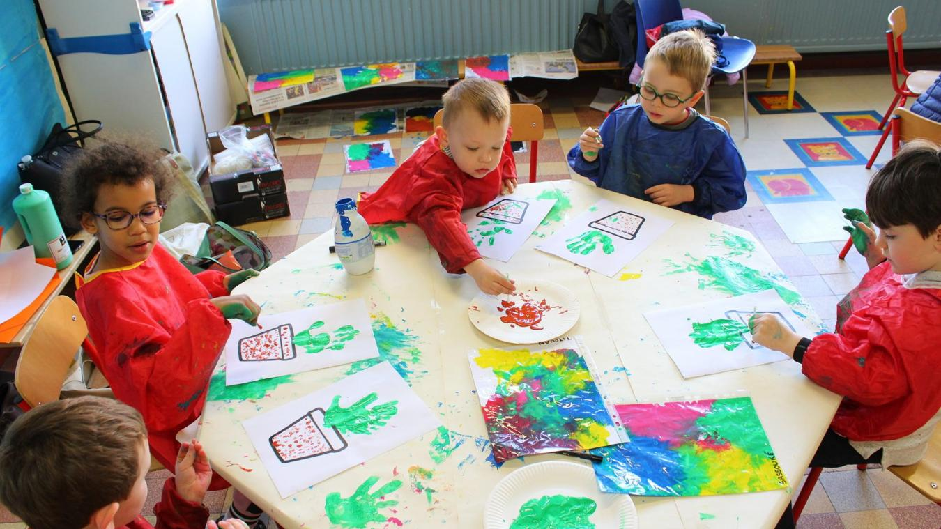 Atelier peinture pour les enfants.