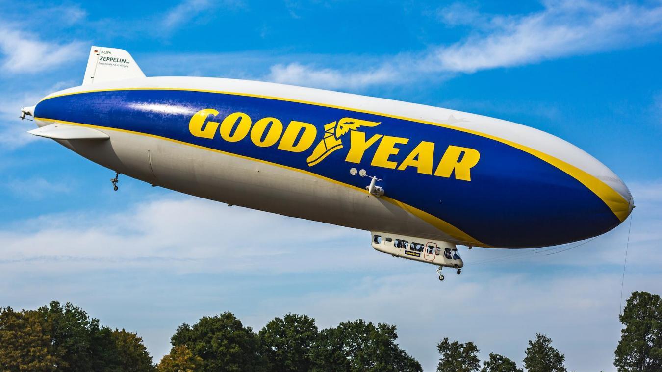 Le mythique Blimp Goodyear va s'installer à l'aéroport de Calais-Marck, afin de couvrir du ciel une course automobile dans le sud-est de Londres.