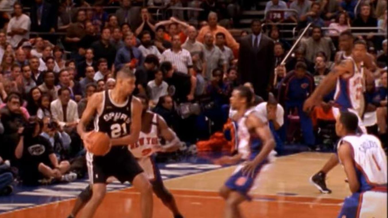 Tim Duncan, l'un des grands acteurs de la saison 1998/1999.