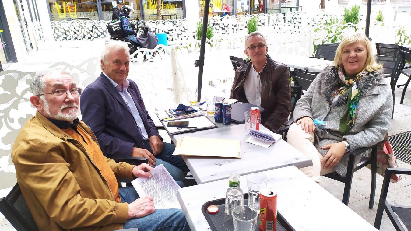 Pierre-Marie Ducatez, Pierre Lecler, Victor Prevost et Brigitte Parmentier