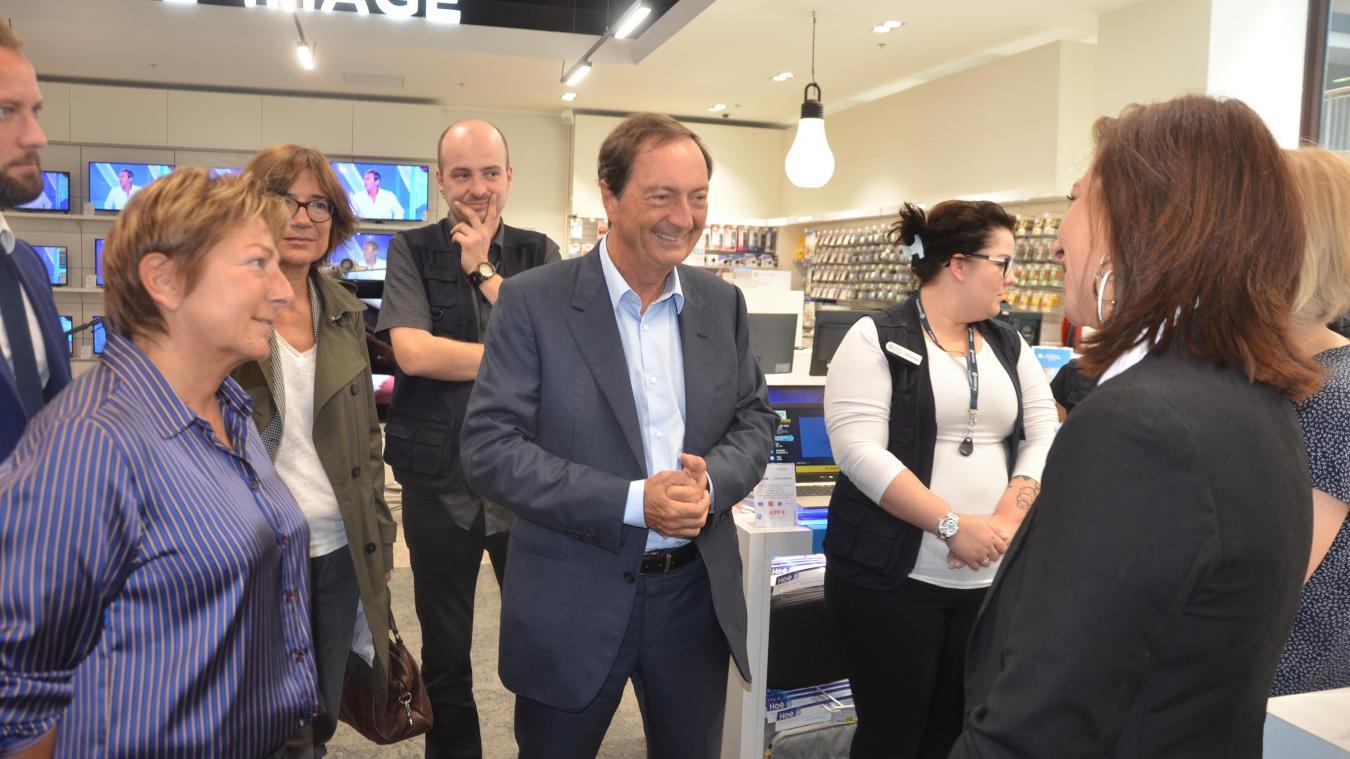 Michel-Edouard Leclerc, lors de l'inauguration de l'Espace Culturel Leclerc à Calais Coeur de Vie en septembre 2017.